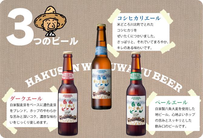 3種のビール